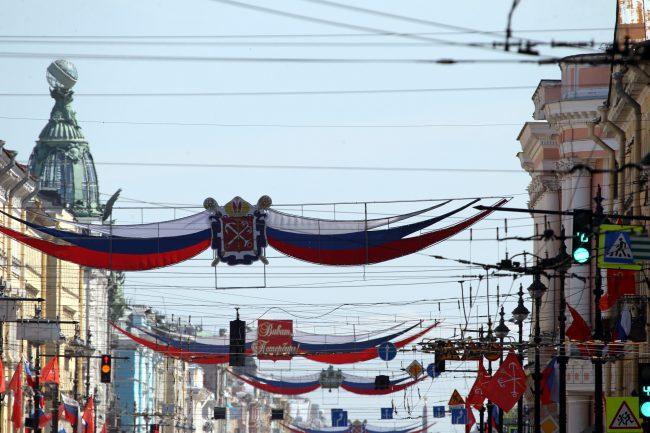 День города, украшения, Невский проспект
