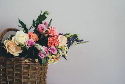 букет, цветы, корзина цветов