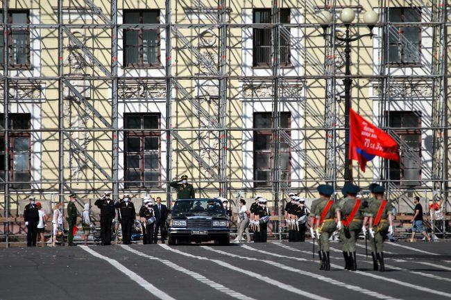 репетиция парада Победы, Дворцовая площадь, военные