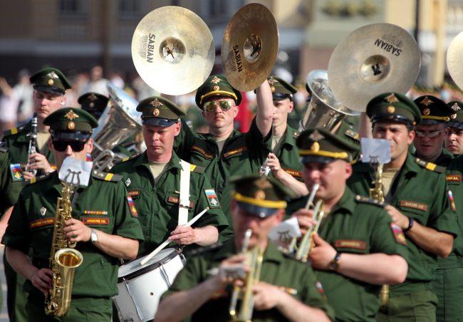 репетиция парада Победы, армия, военный оркестр