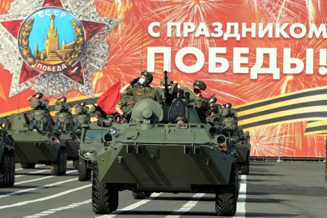 репетиция парада Победы, армия, военная техника, боевые машины пехоты