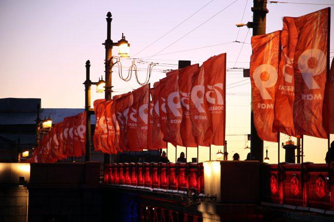 подсветка, день медицинского работника, Дворцовый мост