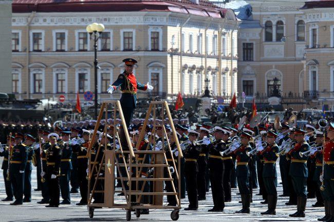 парад победы, военный оркестр