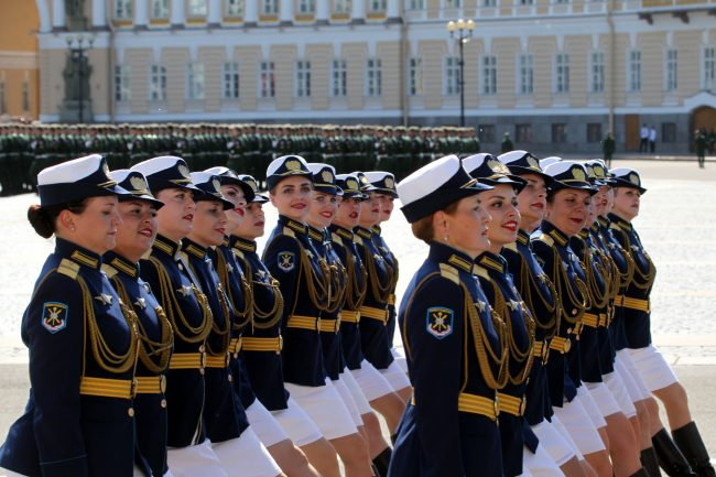 парад победы, женщины-военнослужащие