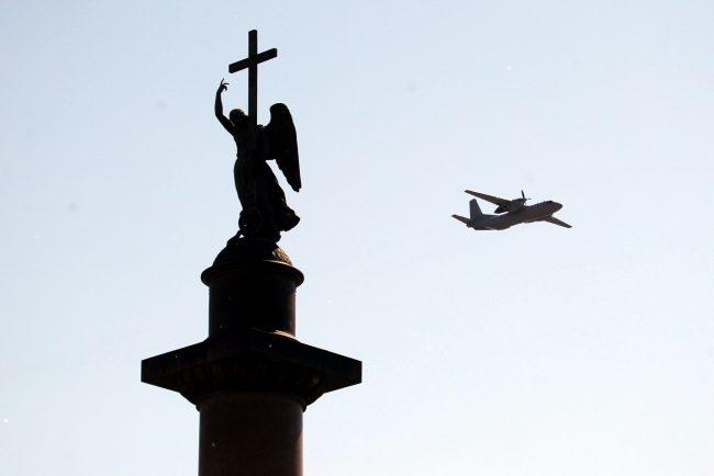 парад победы, Дворцовая площадь, самолёты, авиация, Ан-26