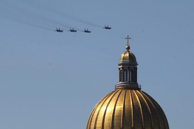 парад победы, Дворцовая площадь, самолёты, авиация, истребители, Миг-31