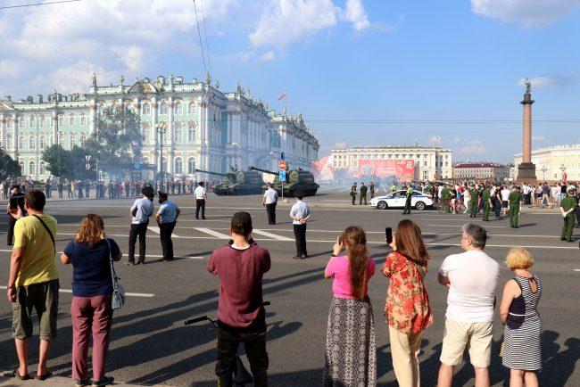 репетиция парада Победы, армия, военная техника, Дворцовая площадь
