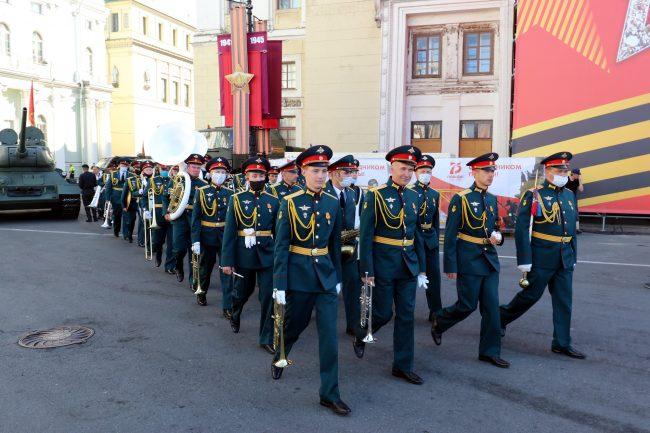 парад победы, военнослужащие, армия, солдаты, военный оркестр