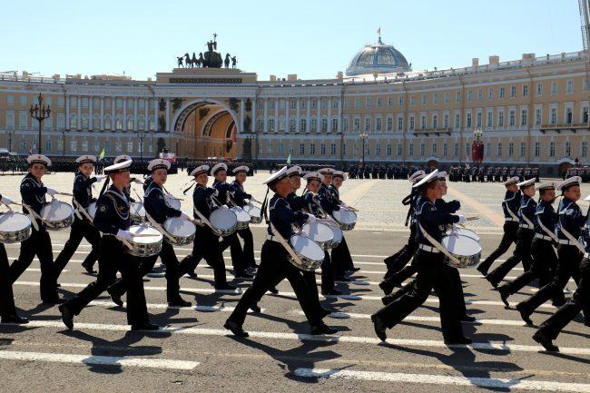 парад победы, дети, кадеты, барабанщики
