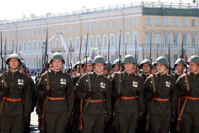 парад победы, военнослужащие, армия, солдаты, реконструкция, историческая форма