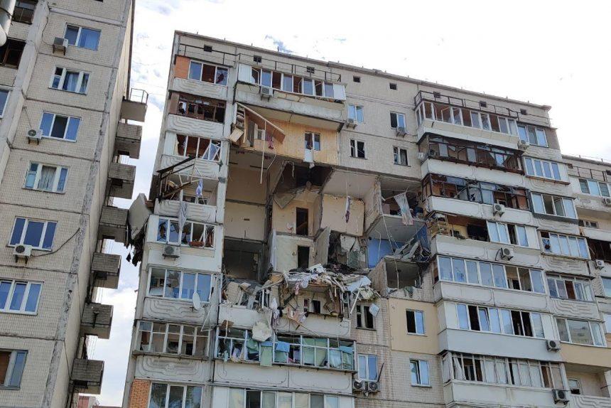 киев хлопок взрыв газа обрушение жилого дома