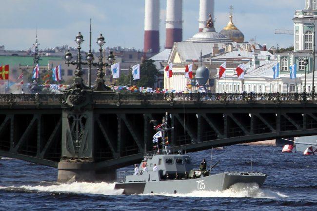 день ВМФ, главный военно-морской парад, военные корабли, танк Т-34, десантный катер
