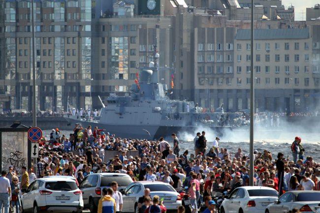 день ВМФ, главный военно-морской парад, зрители
