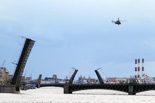 авиация, вертолёты, репетиция, главный военно-морской парад, день ВМФ
