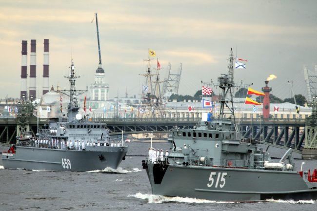 репетиция, главный военно-морской парад, день ВМФ, корабли