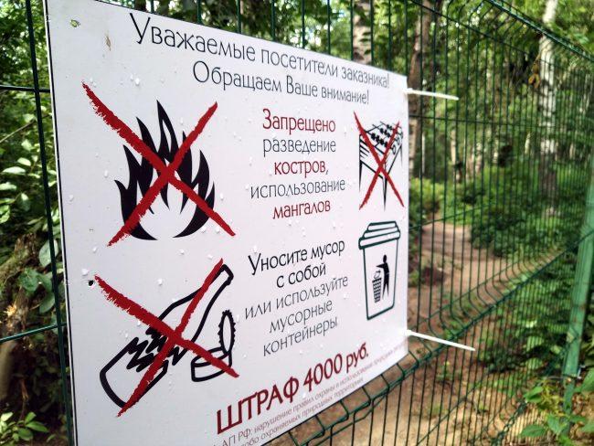 Юнтоловский заказник, ООПТ, особо охраняемая природная территория, запреты