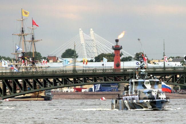 репетиция, главный военно-морской парад, день ВМФ, корабли, Троицкий мост