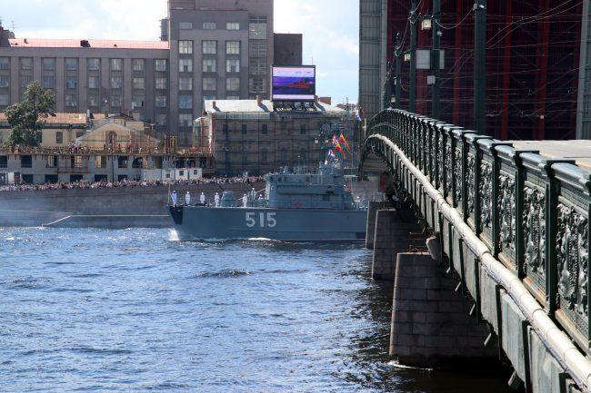 день ВМФ, главный военно-морской парад, Литейный мост, разведённый мост