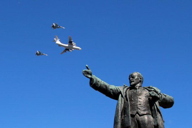 день ВМФ, авиация, самолёты, площадь Ленина, памятник Ленину