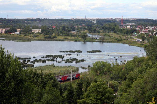 Дудергофское озеро, электричка, железная дорога