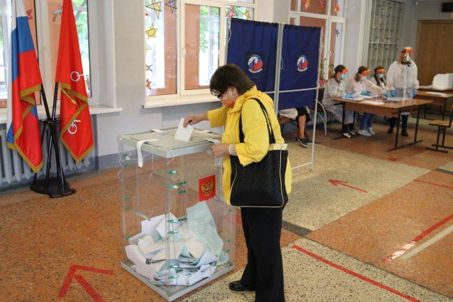 голосование, избирательный участок 30, поправки в конституцию, урна