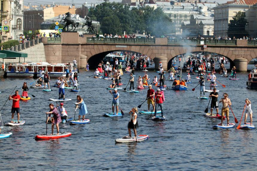 SUP-серфинг, Фонтанка SUP, водные виды спорта, костюмы