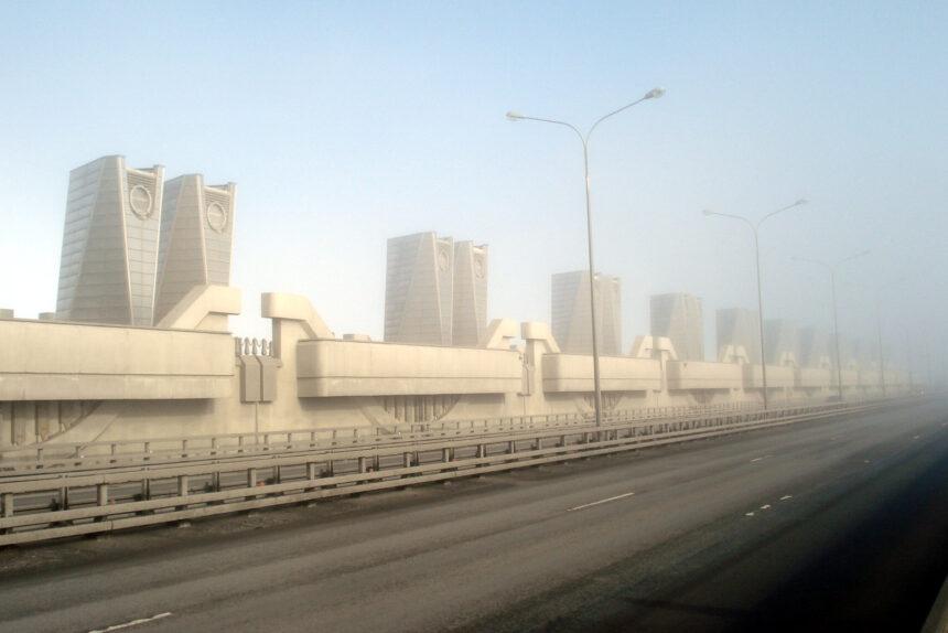 дамба, КЗС, комплекс защитных сооружений Санкт-Петербурга от наводнений, водопропускное сооружение В-1
