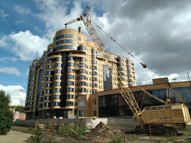 строительство, новостройка, жилой дом, Двинская улица
