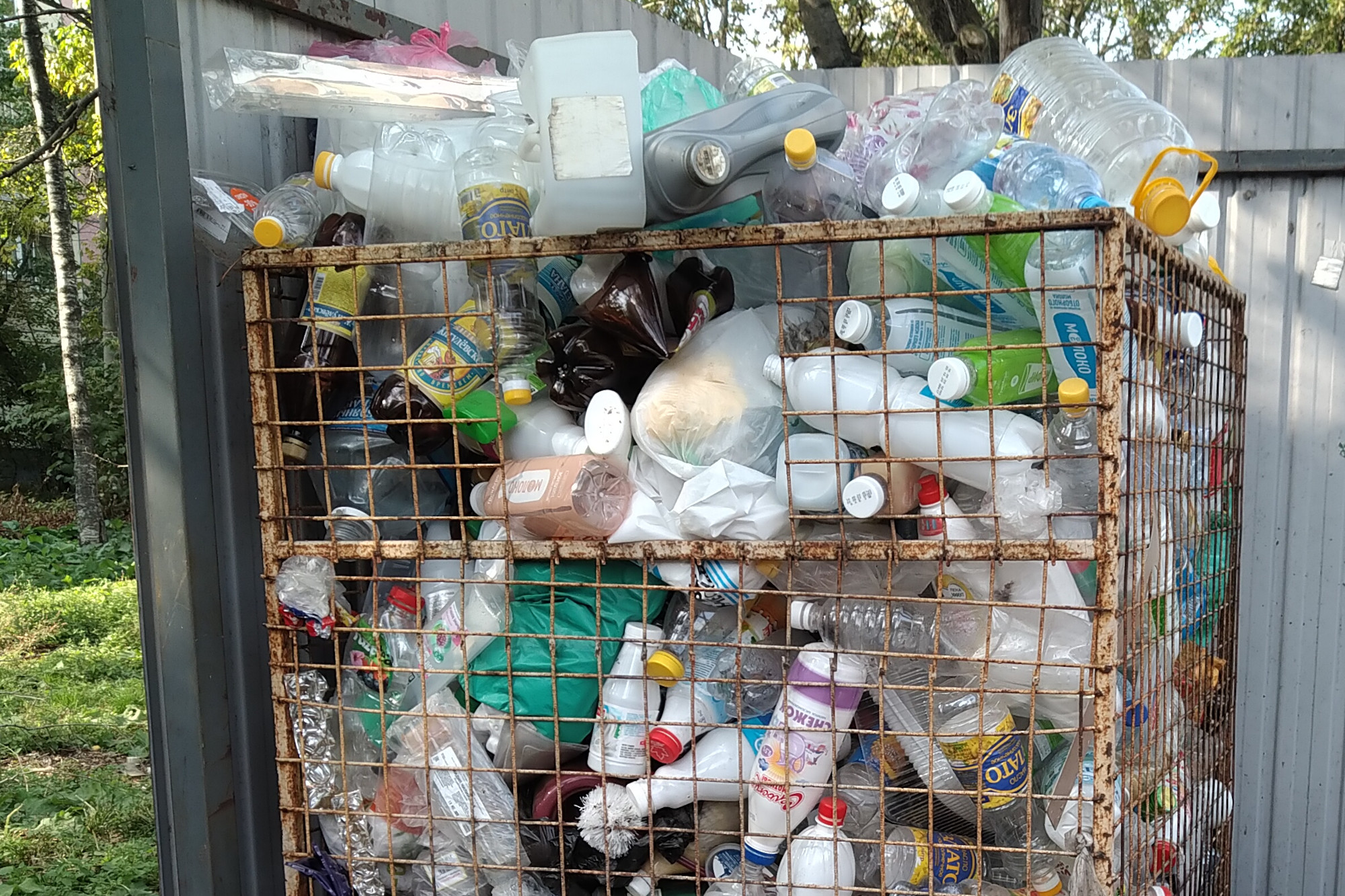 вторсырьё, пластиковые бутылки, сетка для сбора отходов, экология