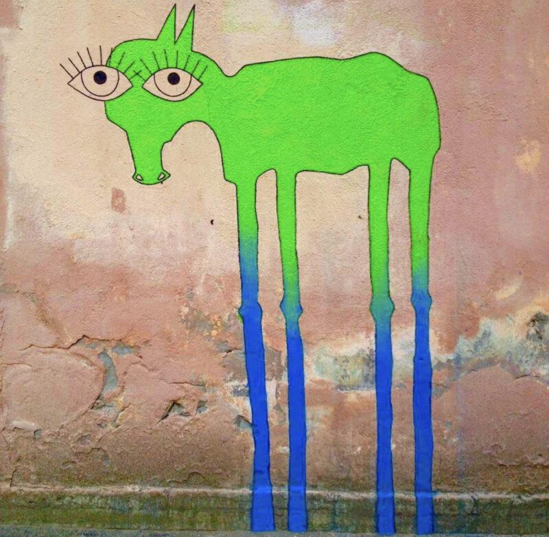 граффити лошадь