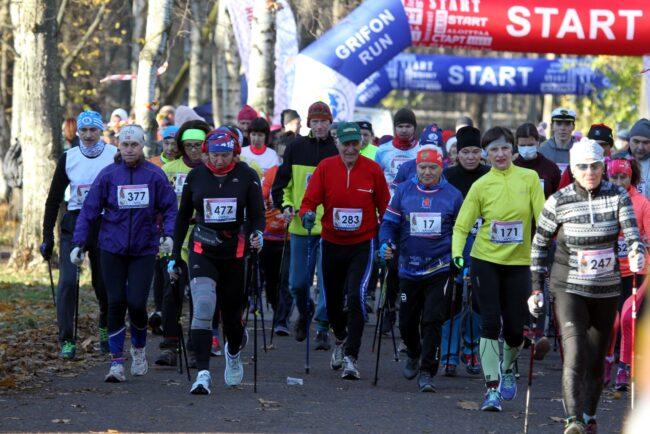 марафон Кубок декабристов, спорт, бег, лёгкая атлетика, Удельный парк, скандинавская ходьба