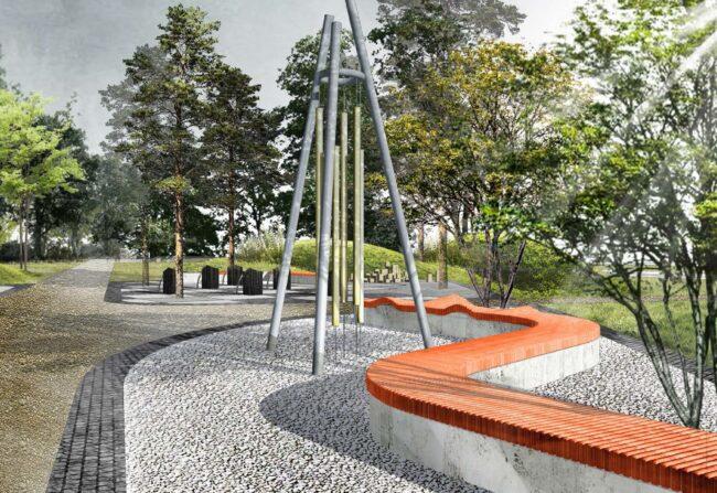 Линейный парк на Морской набережной Васильевский остров