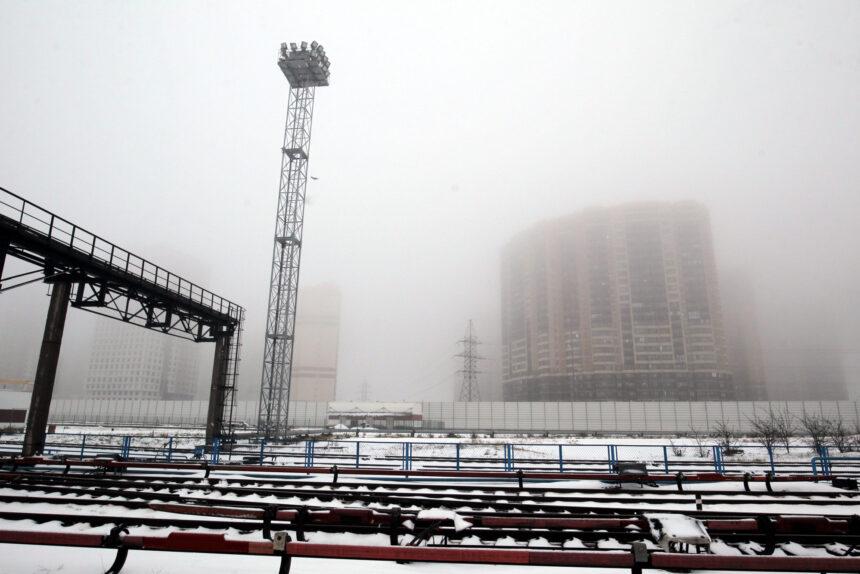 туман, метрополитен, метродепо Выборгское