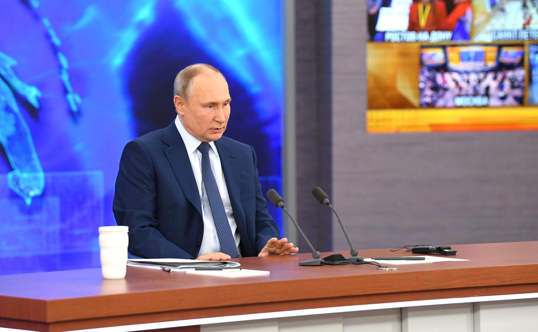 Владимир Путин, большая пресс-конференция