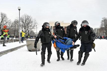 протестная акция 31 января, задержание, полиция, ОМОН