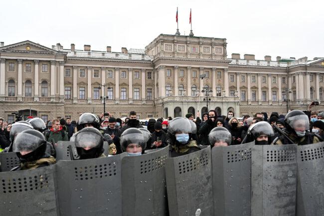 протестная акция 31 января, полиция, ОМОН