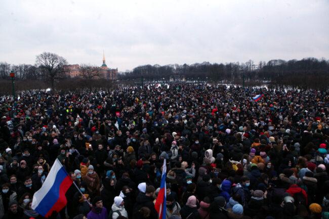 протест, акции в поддержку Навального, митинг, Марсово поле