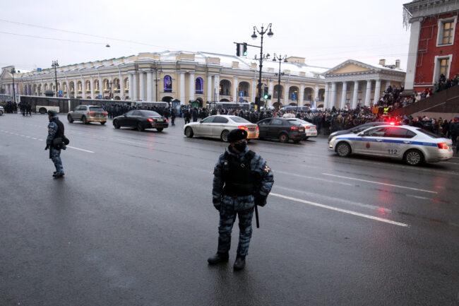 протест, акции в поддержку Навального, митинг, полиция