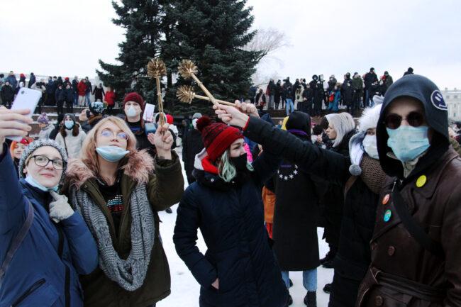 протест, акции в поддержку Навального, митинг, ёршики