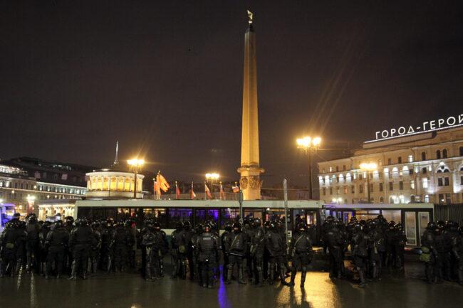 протест, акции в поддержку Навального, митинг, ОМОН, площадь Восстания