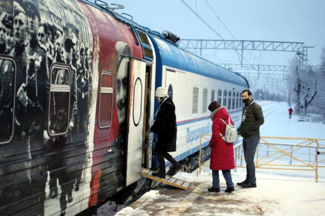 Поезд Победы, Гатчина, Балтийский вокзал