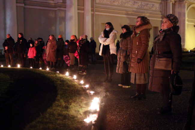 день снятия блокады Ленинграда, памятная акция, Аничков дворец, свечи