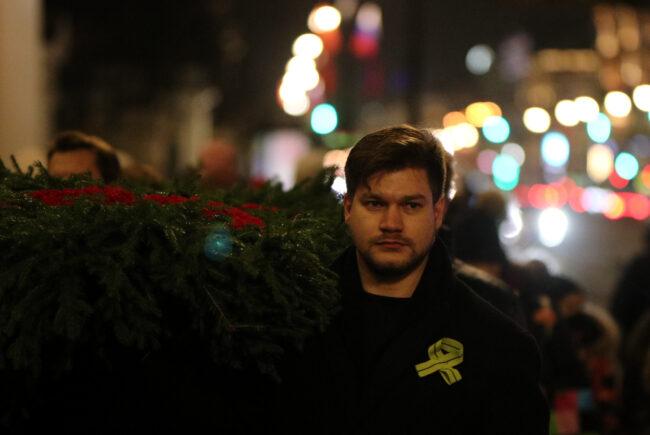 день снятия блокады Ленинграда, памятная акция, возложение венков, Аничков дворец