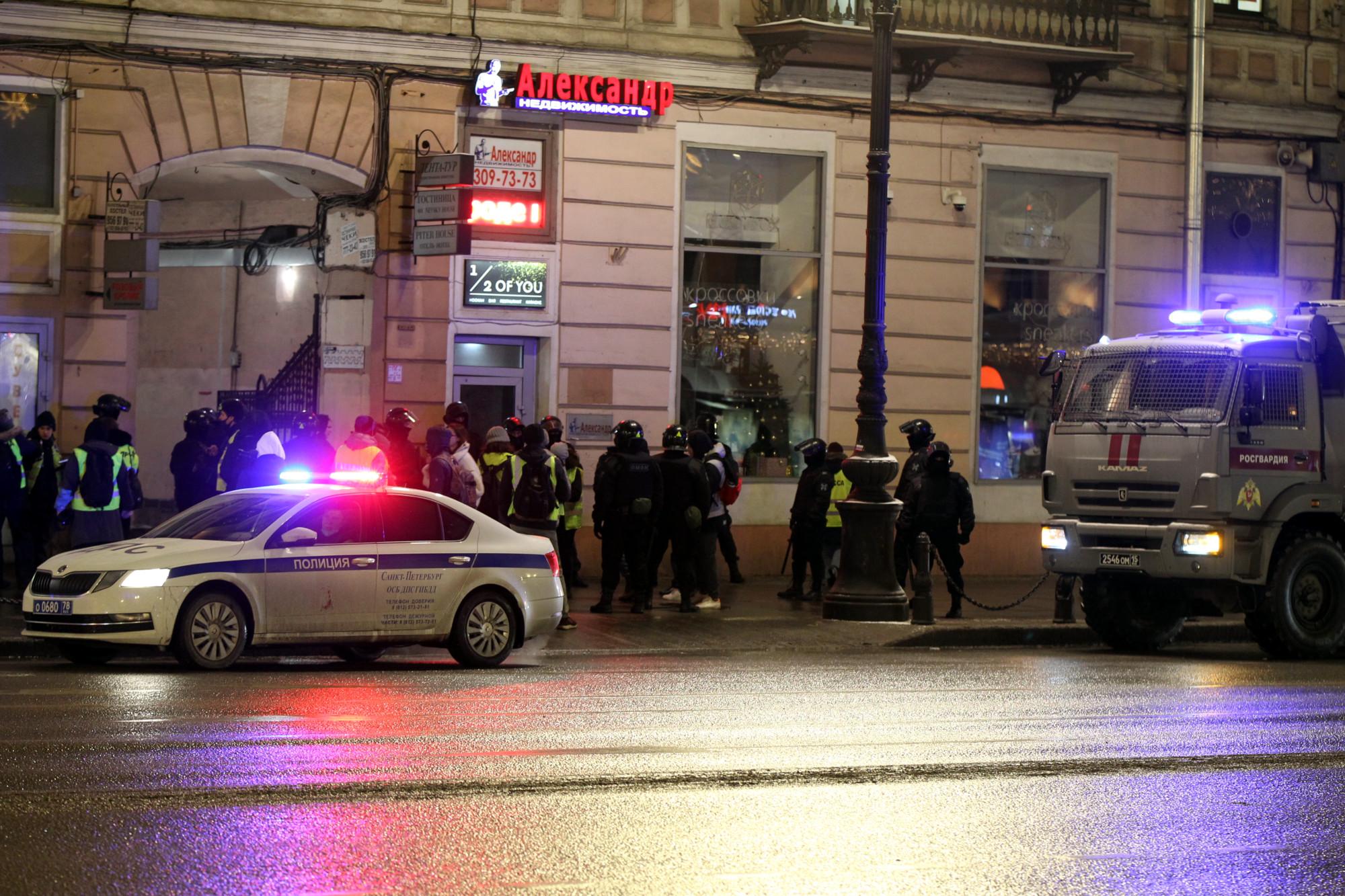 полиция, росгвардия, акция протеста