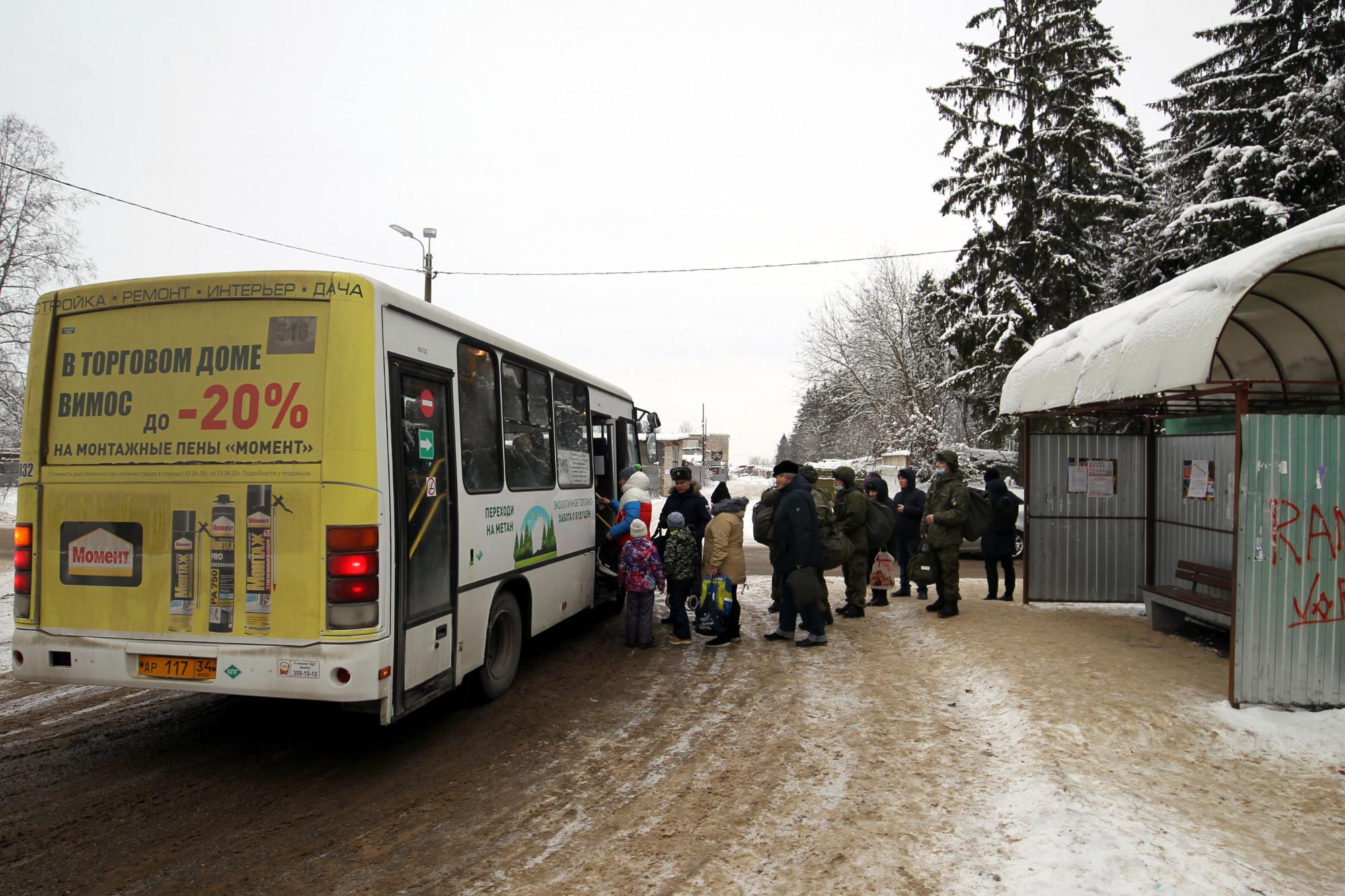 посёлок Хвойный, остановка общественного транспорта, маршрутка