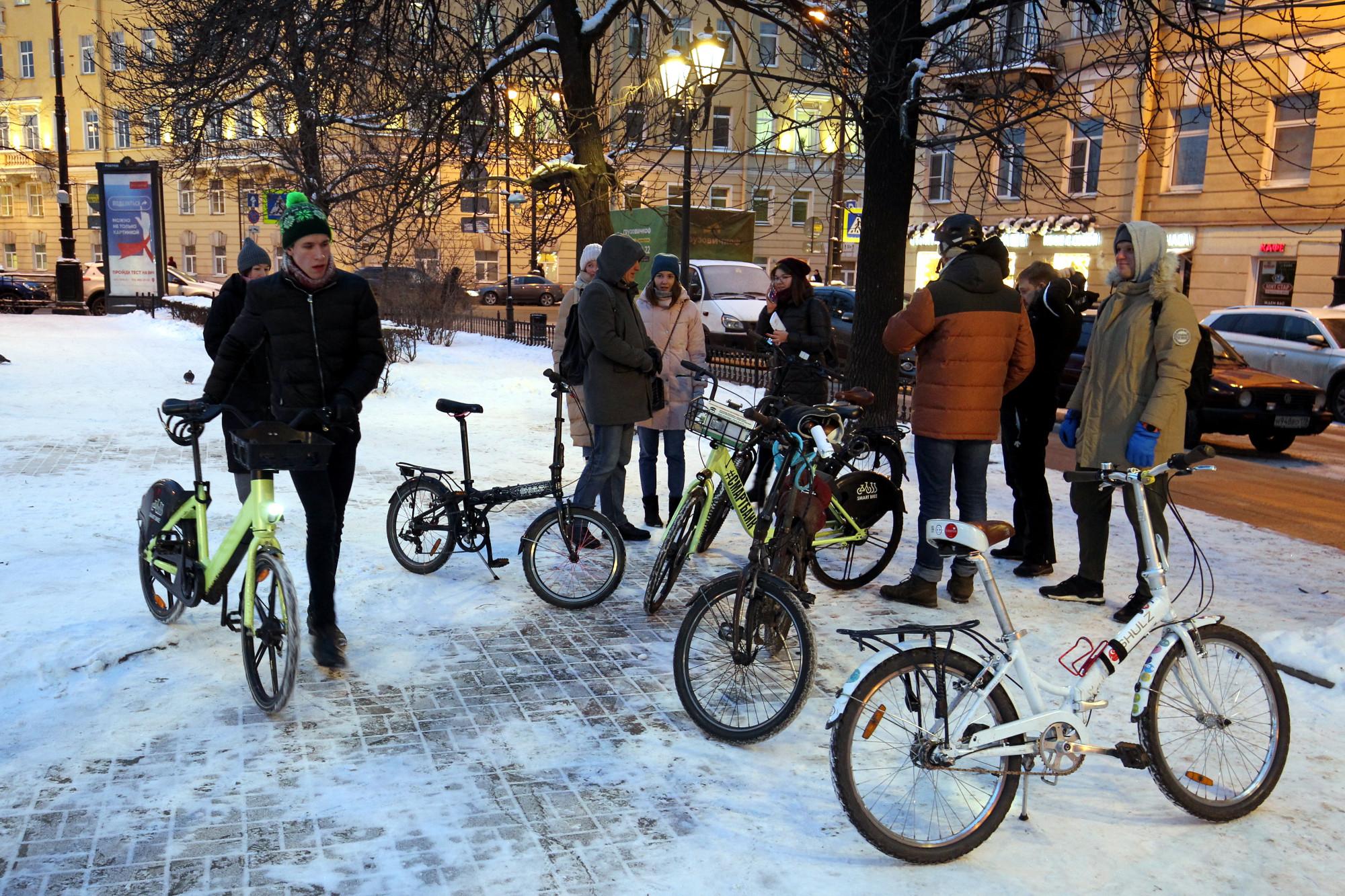 велосипедисты, акция 'На работу на велосипеде'