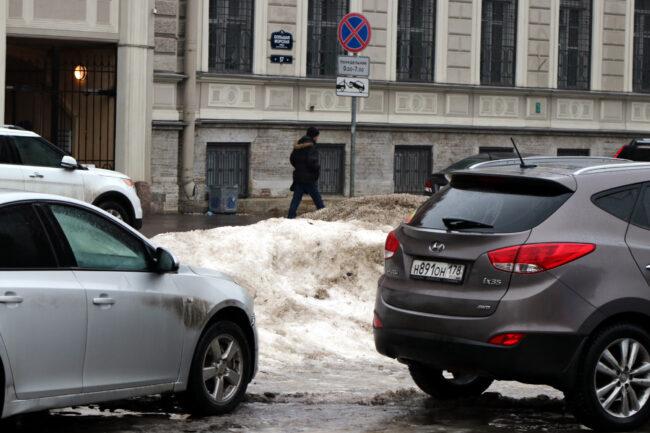 снег, сугробы, припаркованные автомобили