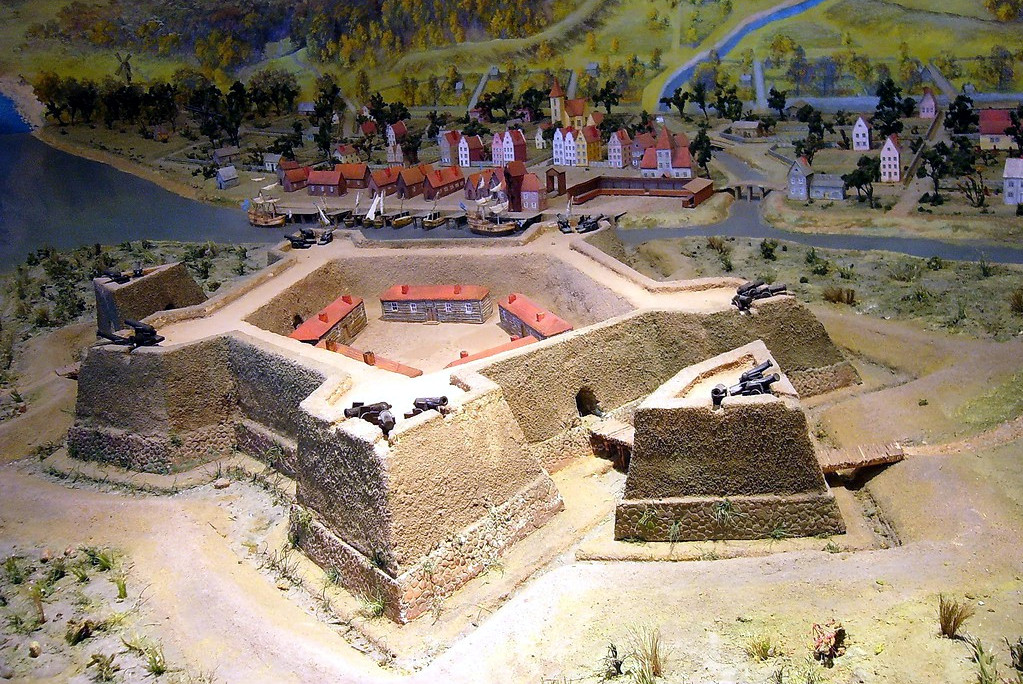 макет крепости Ниеншанц