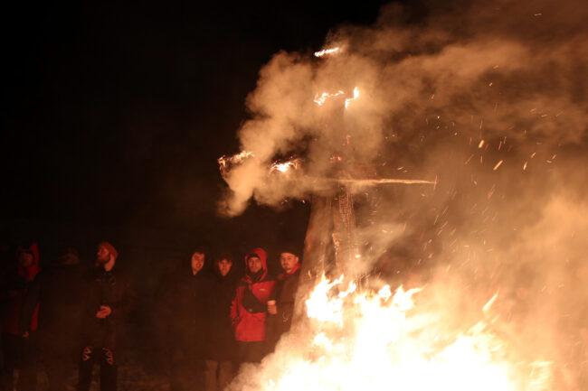 Масленица, огненное шоу