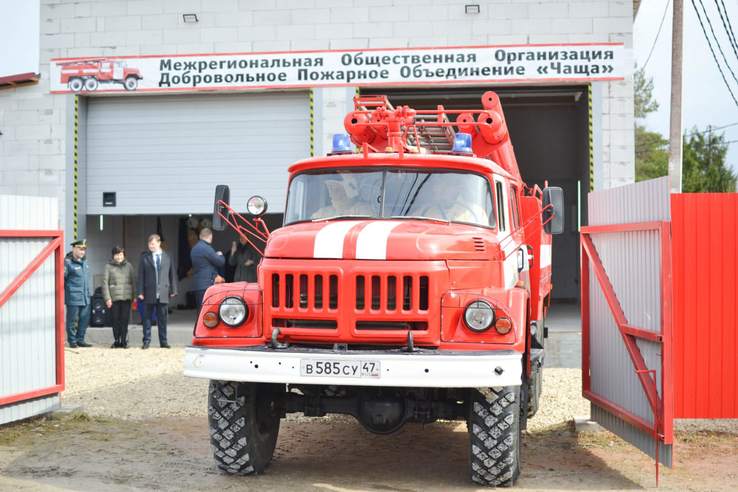 пожарный автомобиль, добровольные пожарные